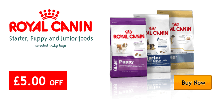Royal Canin Puppy, Starter and Junior £5 off