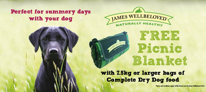 Free Picnic Blanket with James Wellbeloved Food