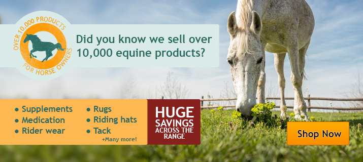We supply over 10,000 horse products!