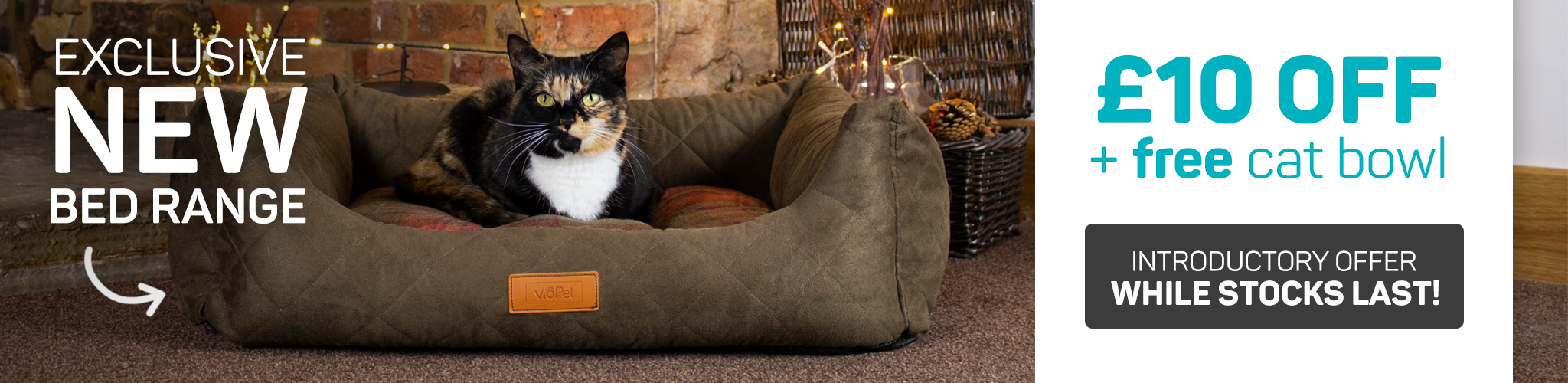 cat christmas page ob bed launch £10 off free bowl