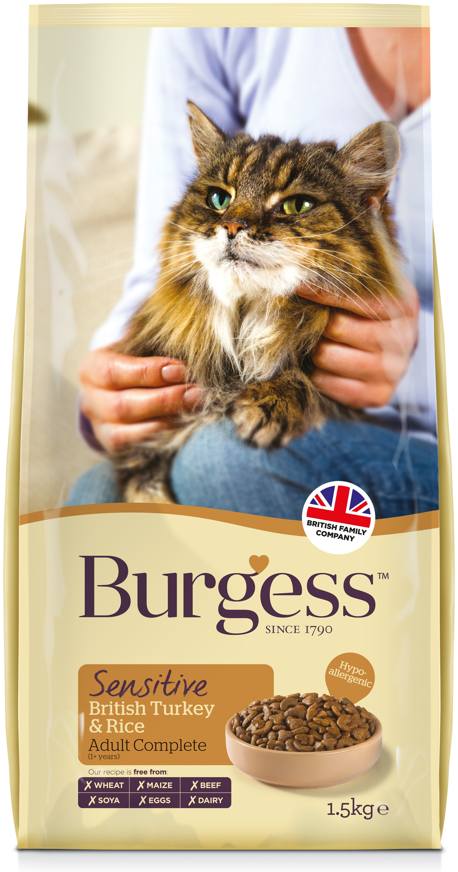 Burgess Sensitive Adult Complete Cat Food