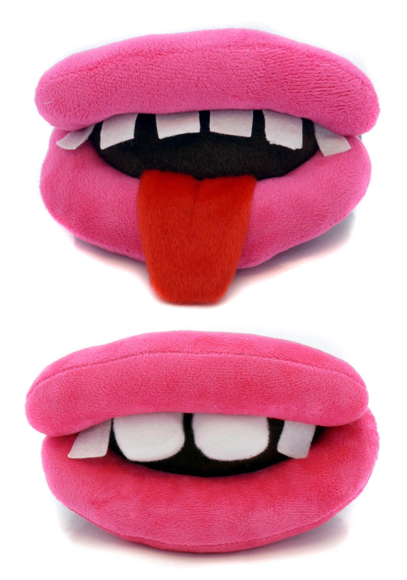 Lip Dog Toys : Ancol 🐶 dog lips plush squeaker toy