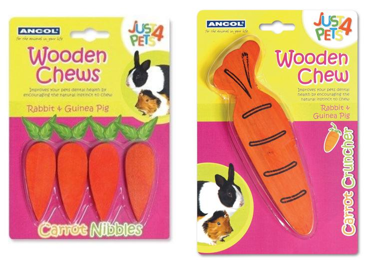 Ancol Just 4 Pets Wooden Chew Small Animal Treats