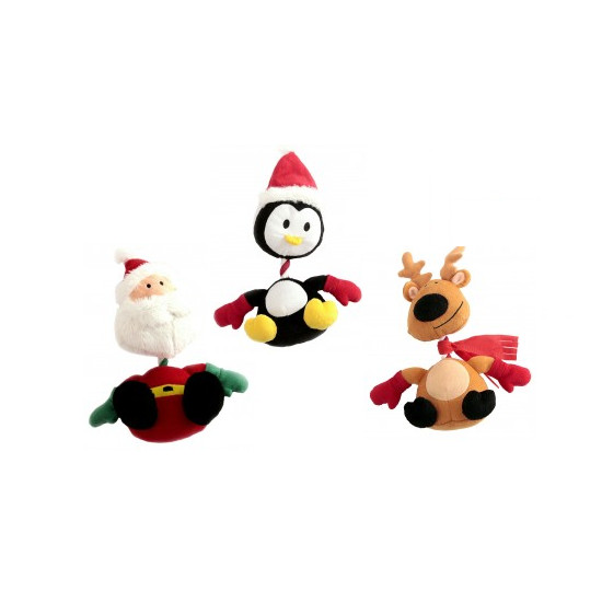 Animate Christmas Squeaky Rope Dog Toy