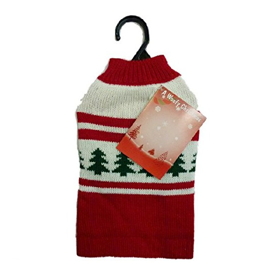 Animate Red Crew Neck Christmas Jumper for Dogs