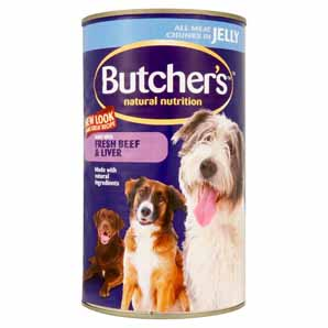 Butchers Beef And Liver in Jelly Dog Food