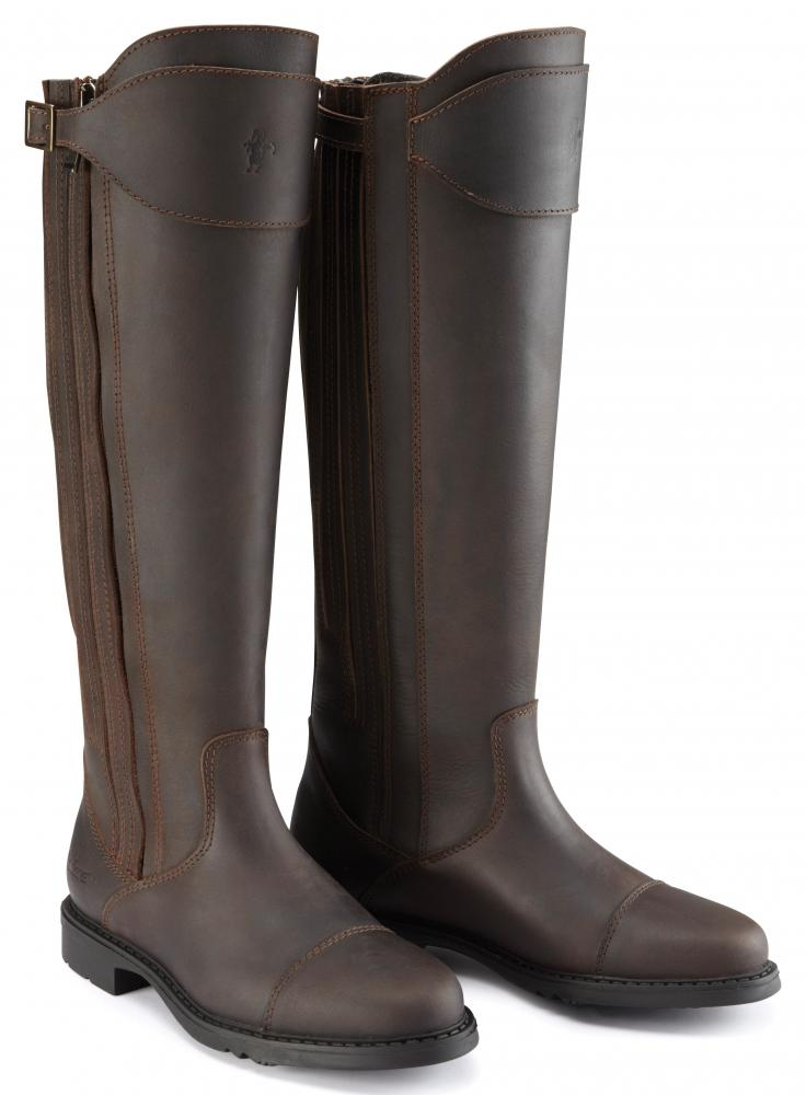 Caldene Buckland Long Waxed Leather Ladies Boots