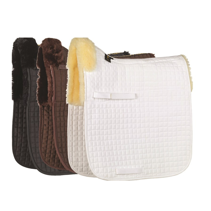 Caldene Sheepskin Half Lined Dressage Saddlecloth