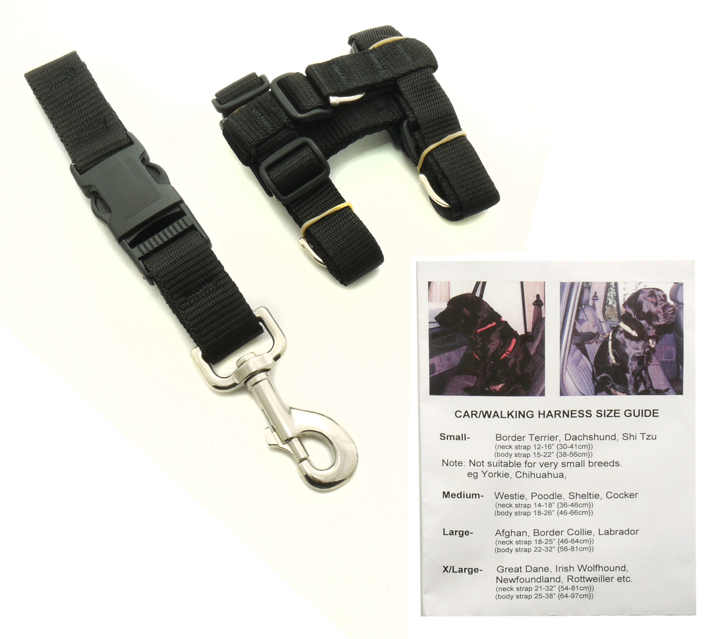 Catac Adjustable Car Harness Dog Restraint