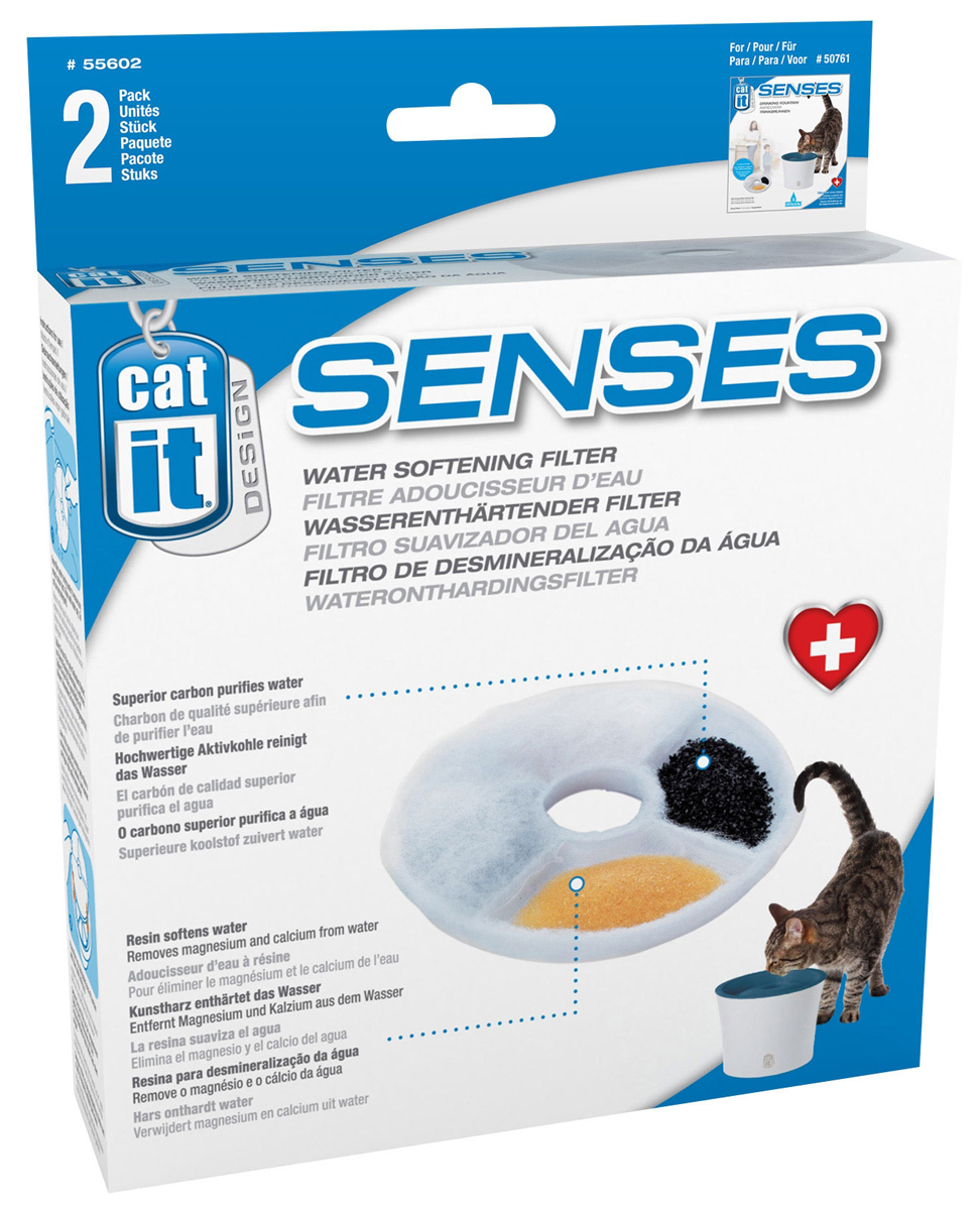 Catit Senses Water Fountain with Water Soft Filter