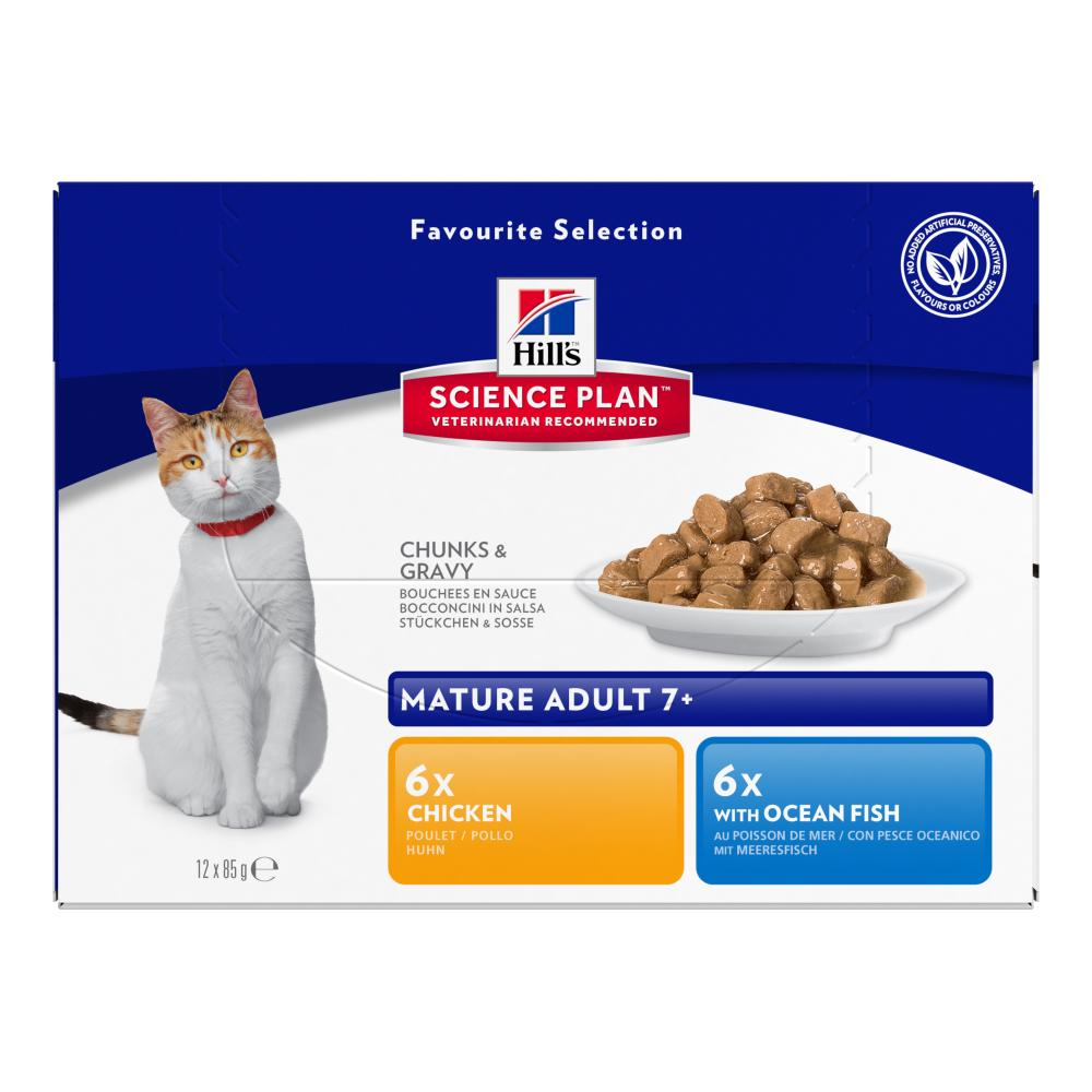 Hills Science Plan Mature Adult 7+ Chicken Fish Cat Food