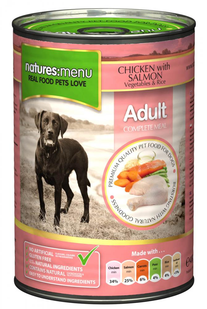 Natures Menu Chicken with Salmon Canned Dog Food