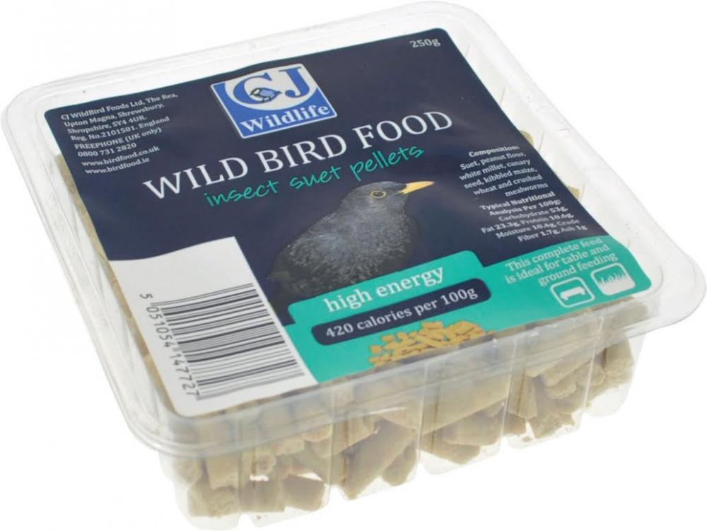 CJ Wildbird Foods Suet Pellets With Insects