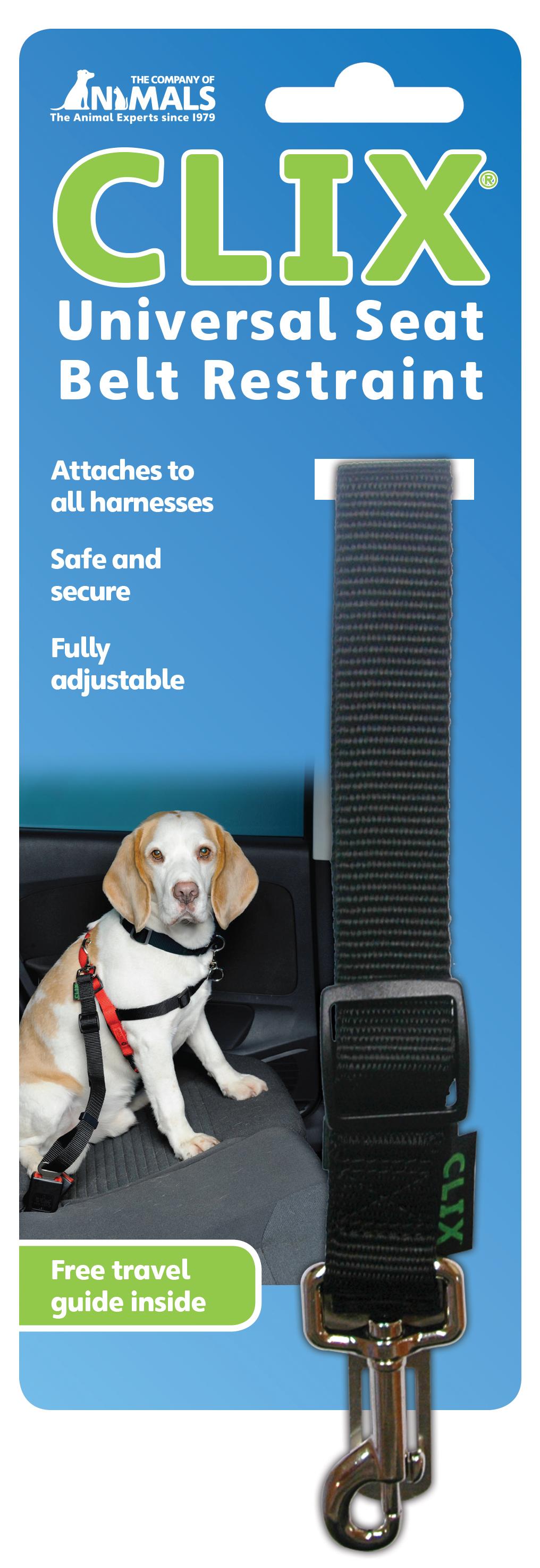 Clix Universal Seat Belt Restraint Rar on Dog Car Seat Belt Restraint