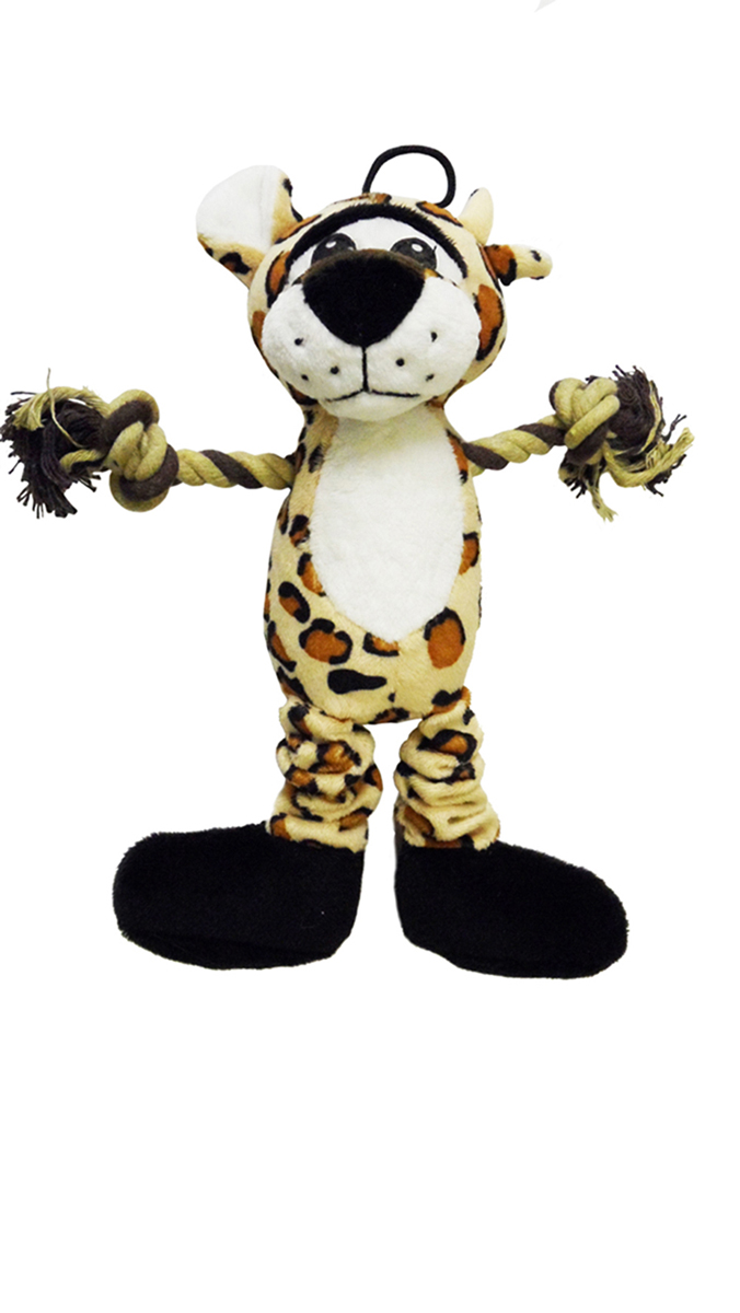Dog & Co Lenny the Leopard Soft Squaker Toy