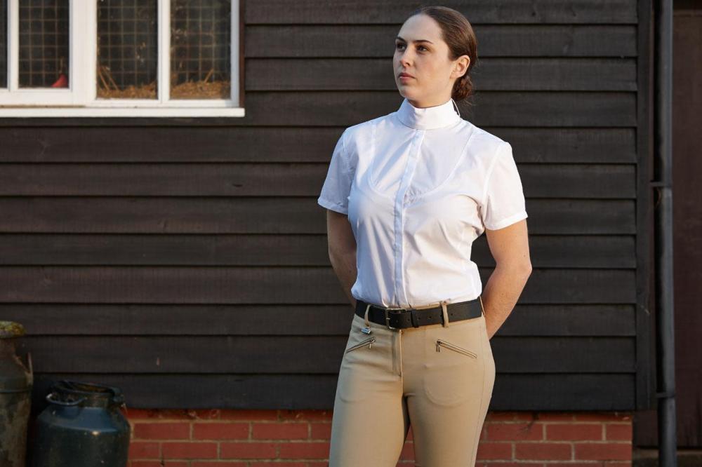 "34/"" White Ladies Dublin Longmoor Competition Shirts"
