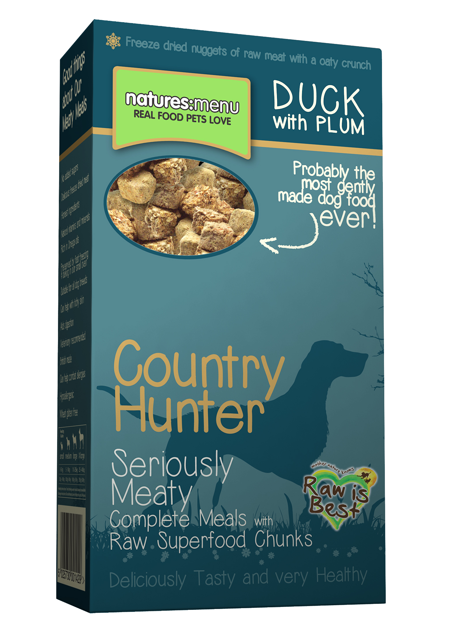Natures Menu Country Hunter Freeze Dried Duck & Plum Dog Food