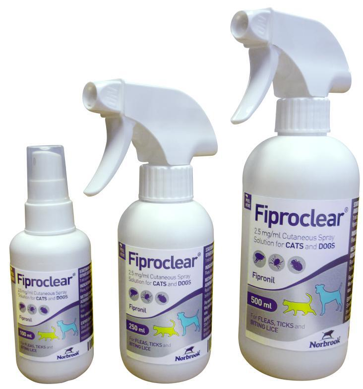 Fiproclear Spray for Dogs & Cats