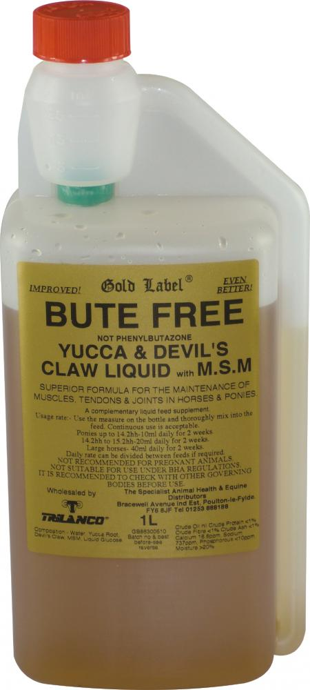Gold Label Bute Free Liquid for Horses