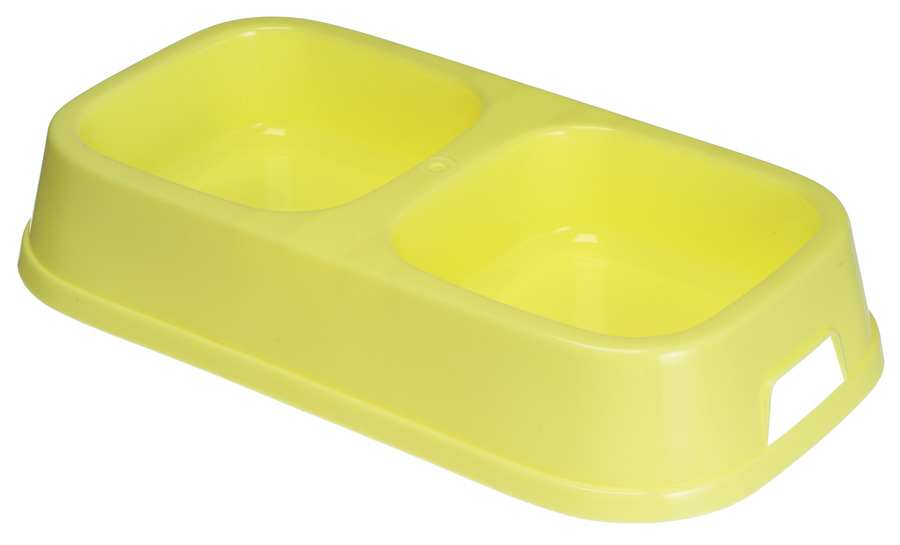 Good Boy Plastic Twin Dog Bowl
