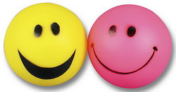 Happy Pet Smiley Vinyl Ball Dog Toy