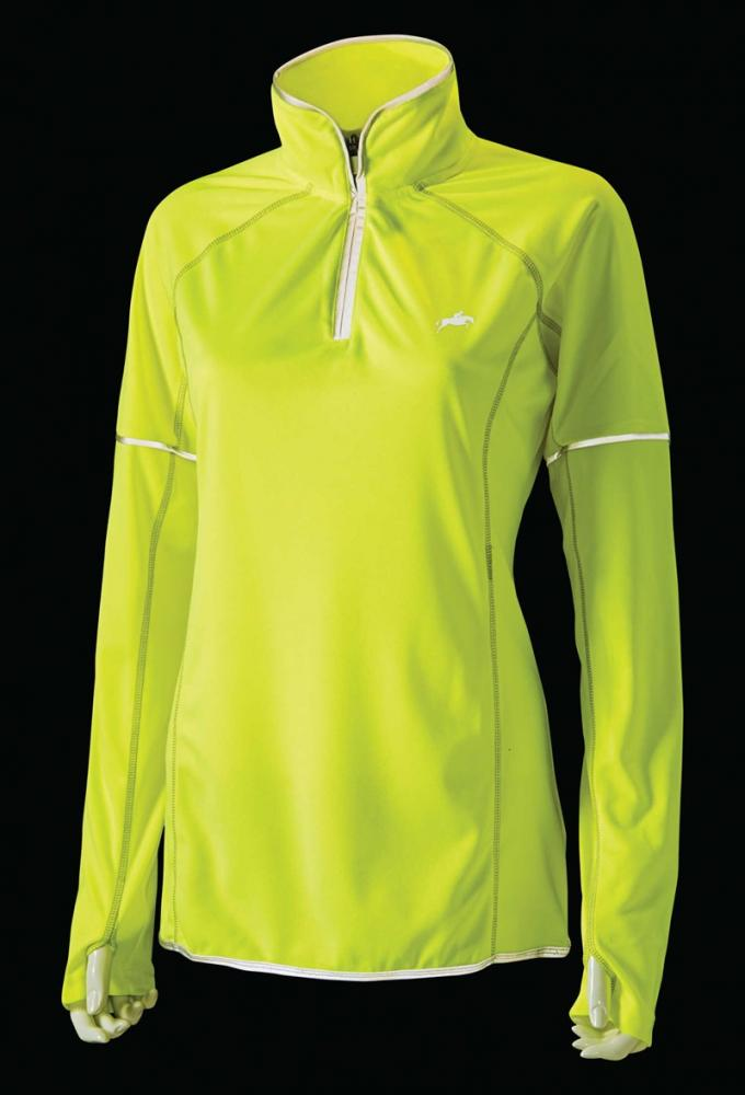 Harry Hall Hi Viz Womens L/S Zip Top