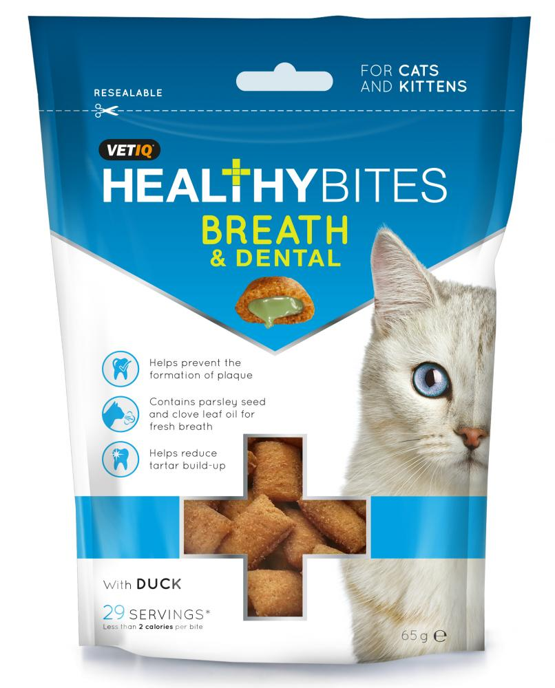 VETIQ Healthy Bites Breath & Dental Treats For Cats & Kittens