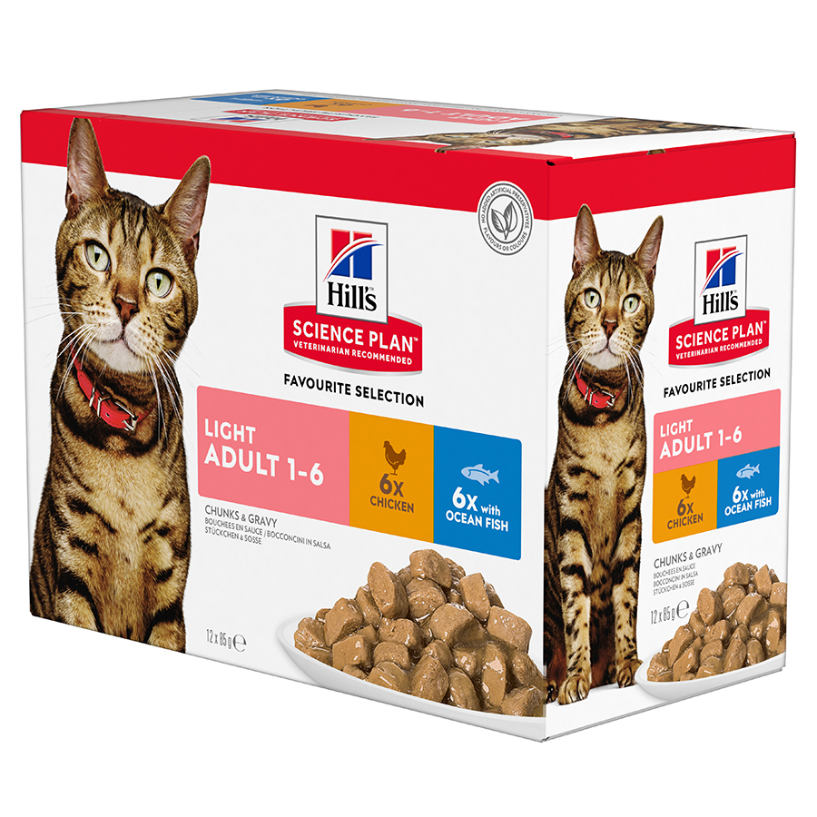 Hills Science Plan Adult Light Cat Food Multipack