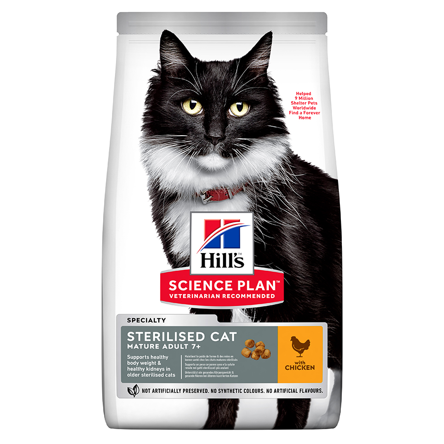 Hills Science Plan Mature Sterilised Chicken Cat Food