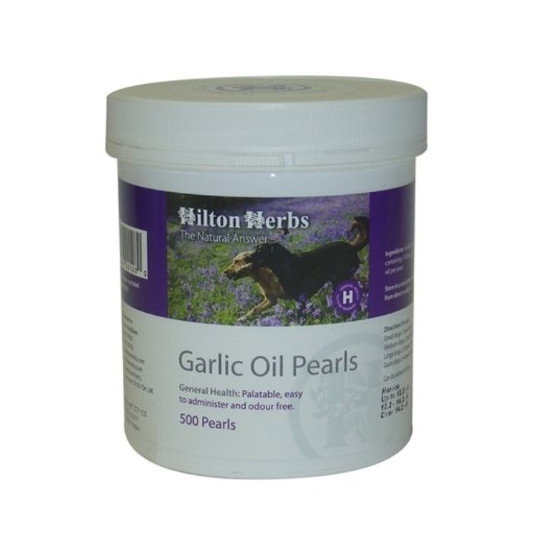 Hilton Herbs Garlic Oil Pearls for Dogs