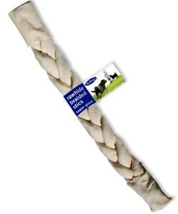 Hollings Natural White Rawhide Braided Stick