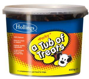 Hollings Tub of Porky Treats for Dogs