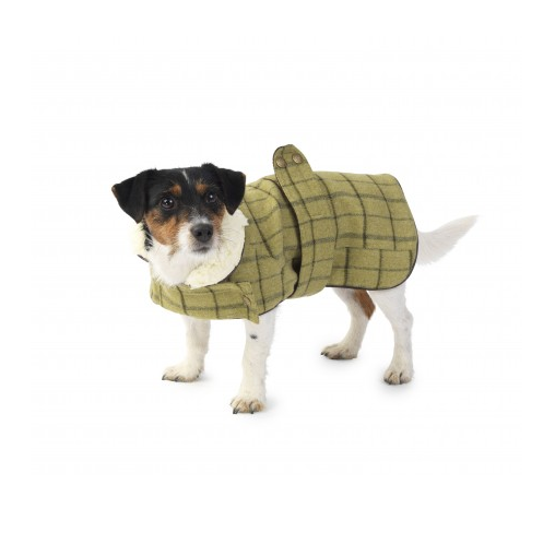 House of Paws Green Tweed Dog Coat