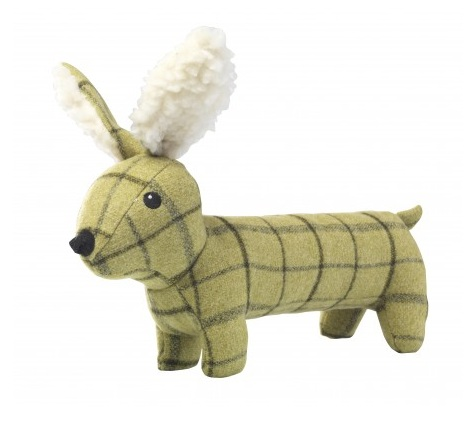 House of Paws Tweed Plush Long Hare Dog Toy