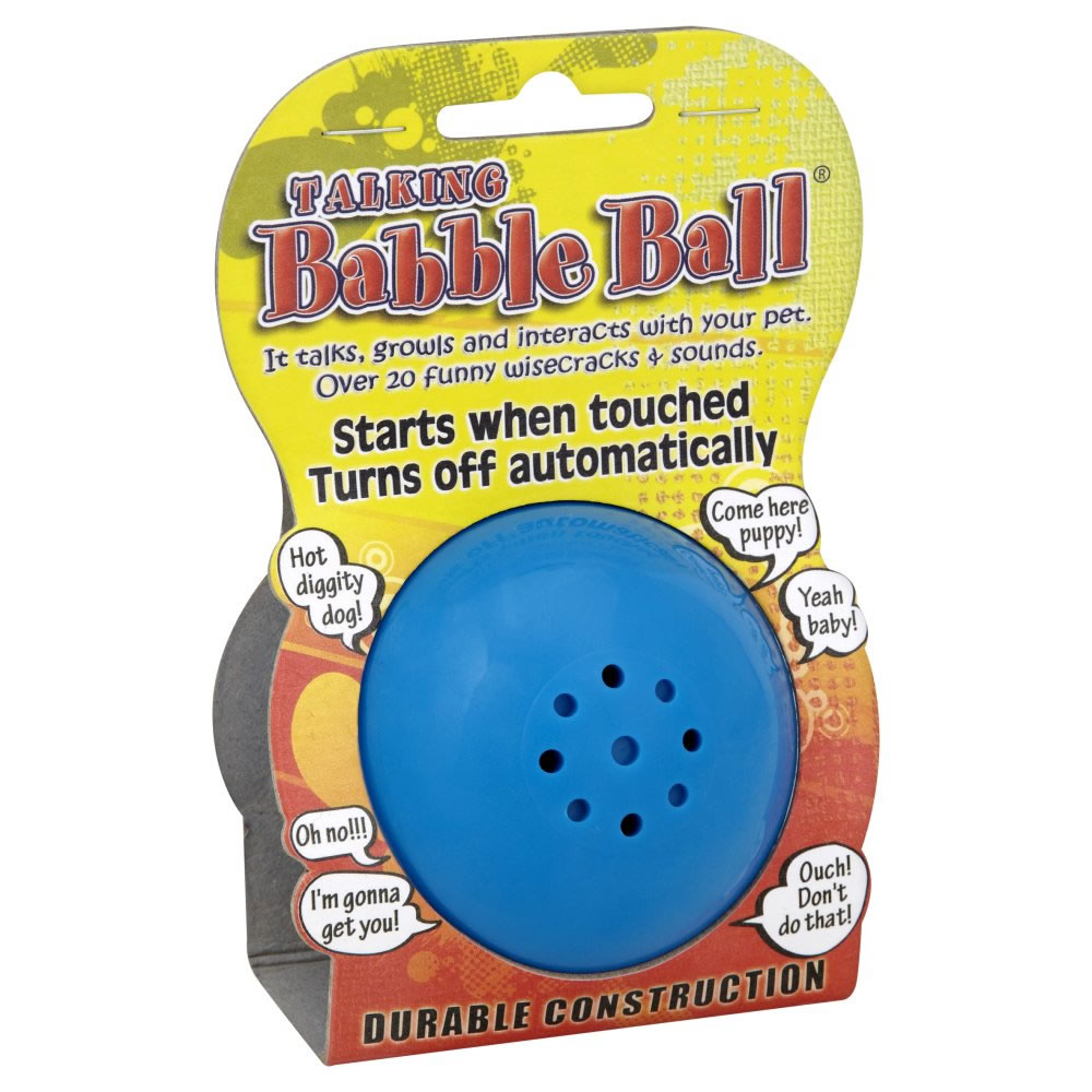 James & Steel Babble Ball Talking Dog Toy