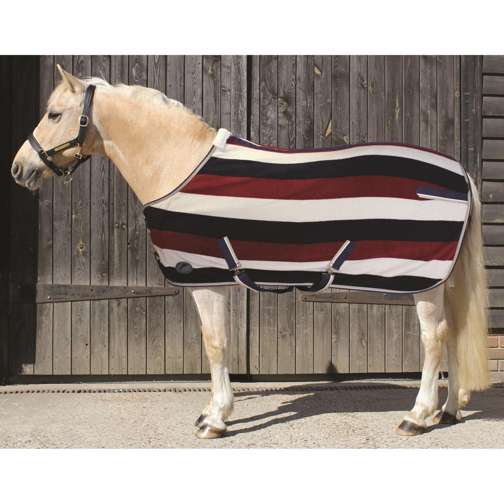 JHL Striped Fleece Rug