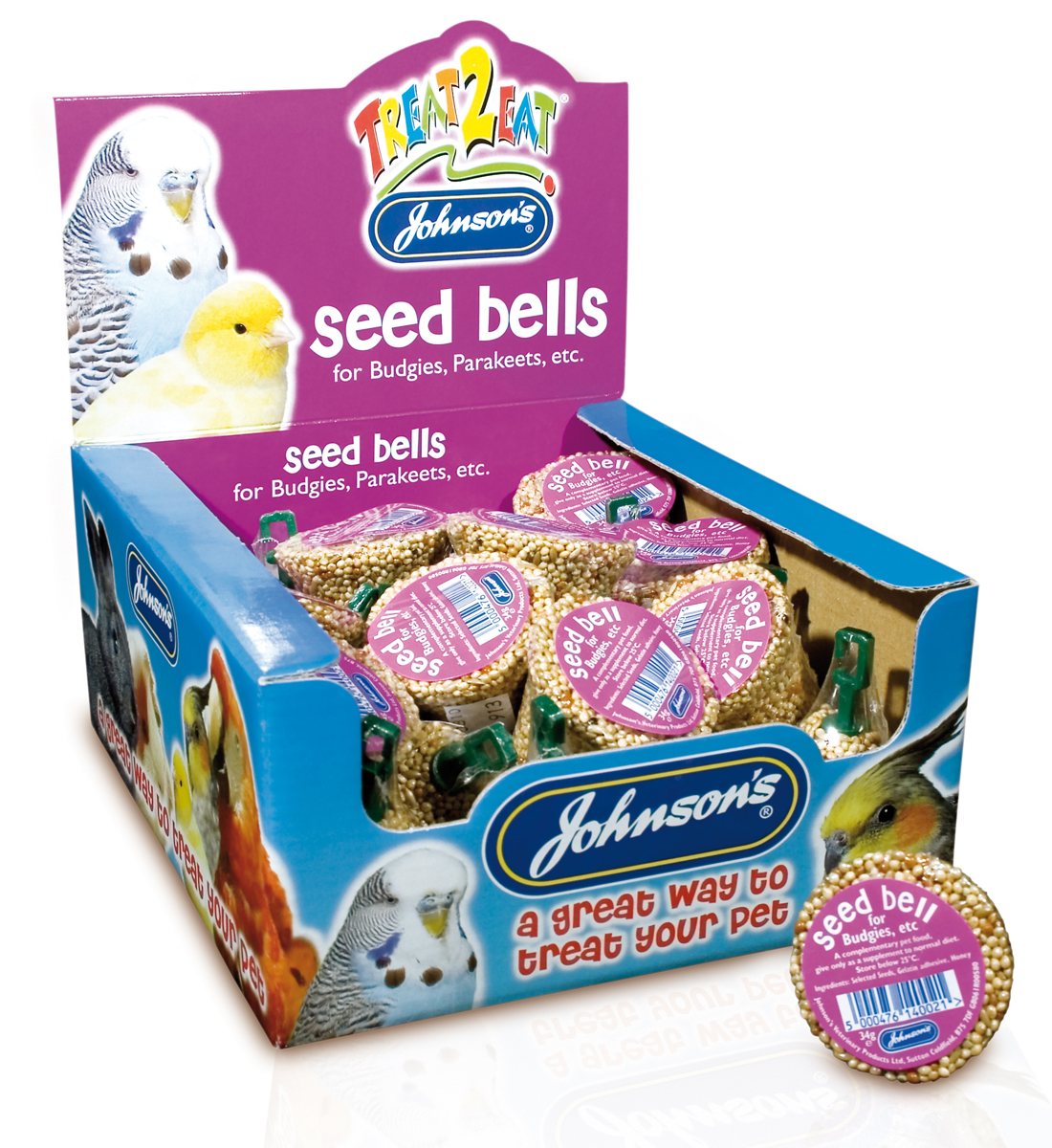 Johnson's Treat 2 Eat Seed Bell Bird Treat