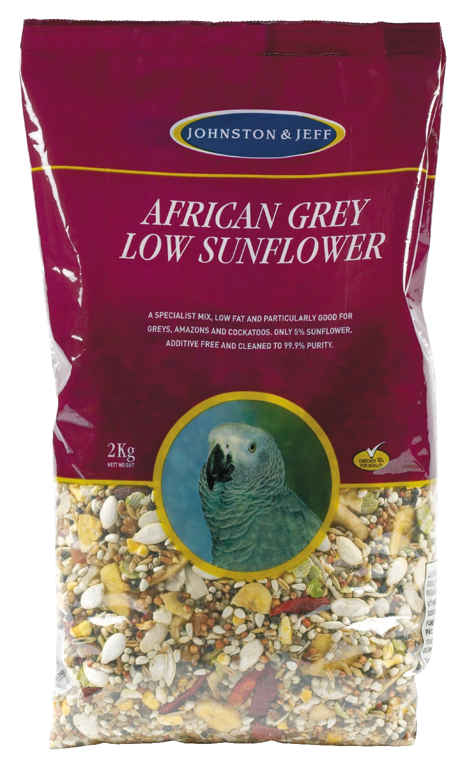 Johnston & Jeff Low Sunflower African Grey Bird Food