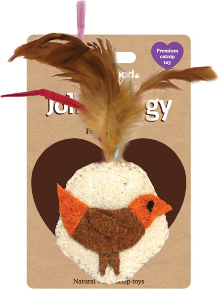 Jolly Moggy Feather Bird Cat Toy
