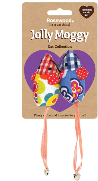 Jolly Moggy Patchwork Mice Duo Cat Toys