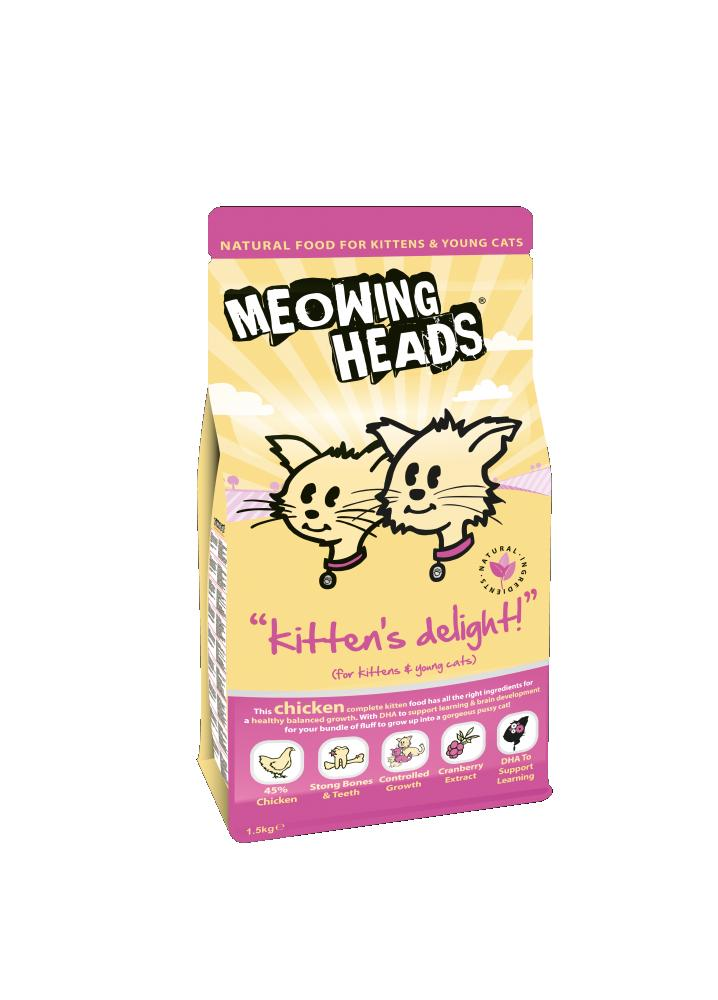 Meowing Heads Kitten's Delight Cat Food