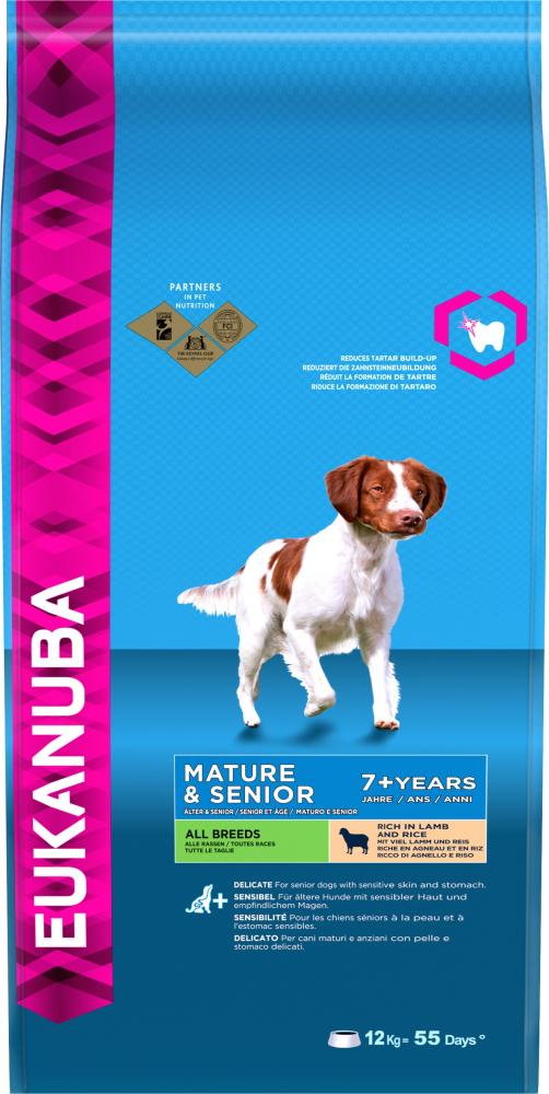 Eukanuba Mature & Senior Lamb & Rice All Breeds Dog Food
