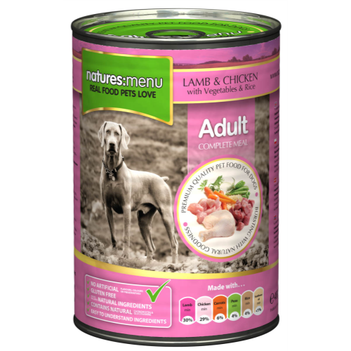 Natures Menu Lamb with Chicken Canned Dog Food