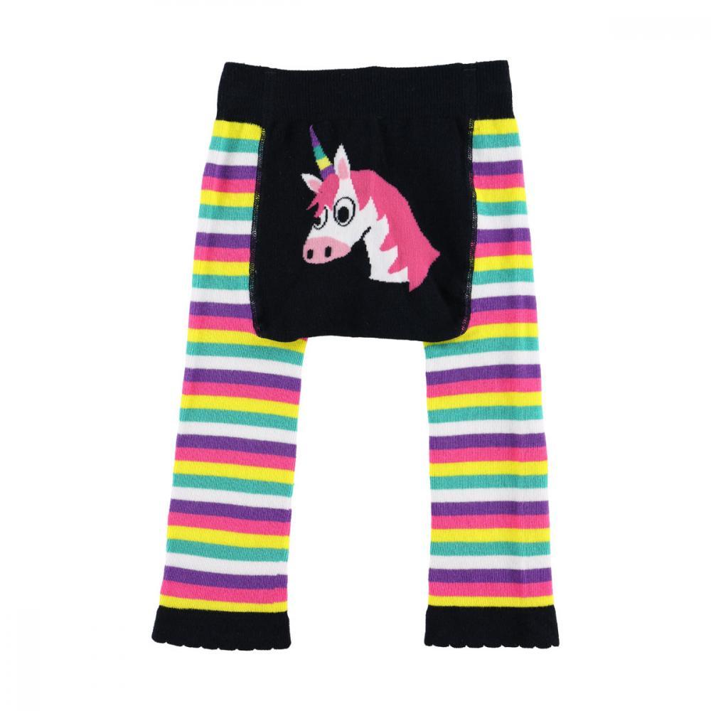 d3578e4fca3509 LazyOne Girls Unicorn Infant Leggings