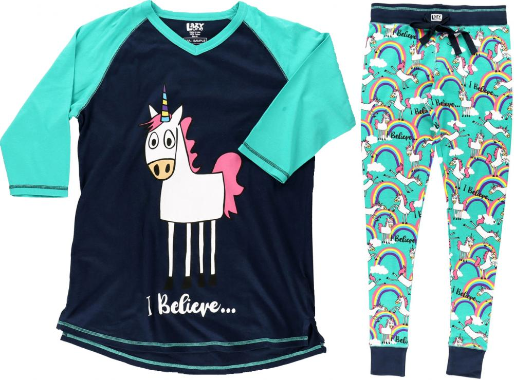 LazyOne Womens I Believe Unicorn Adult Pyjamas
