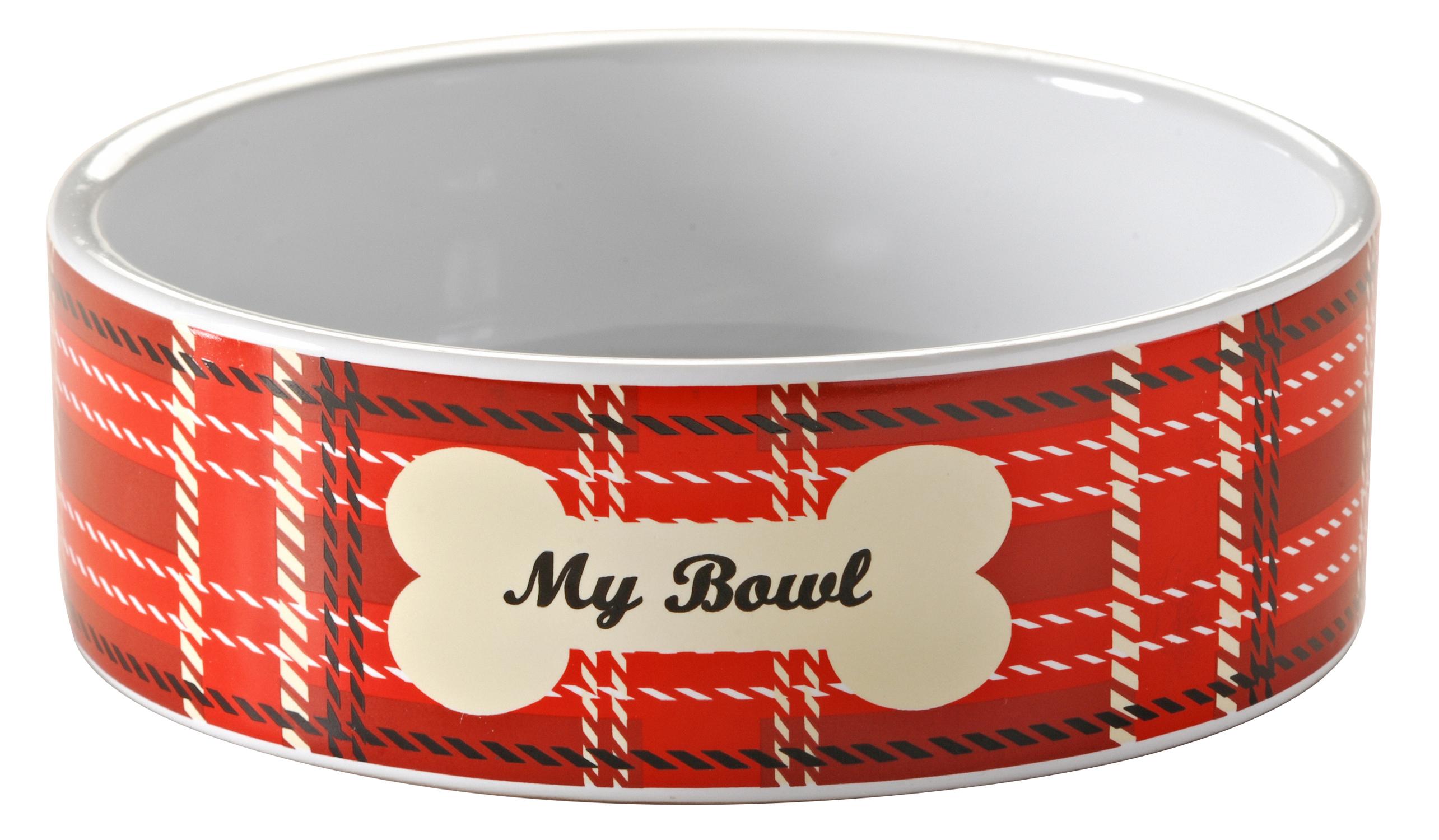 mason cash tartan pet bowl