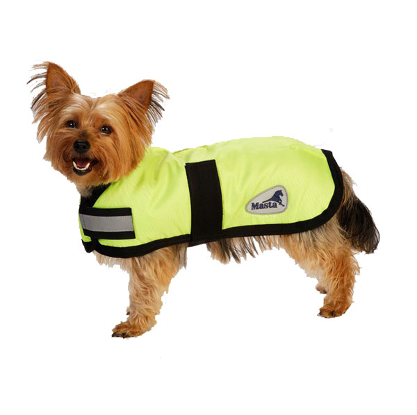 Masta Yellow Hi Vis Waterproof Nylon Dog Coat