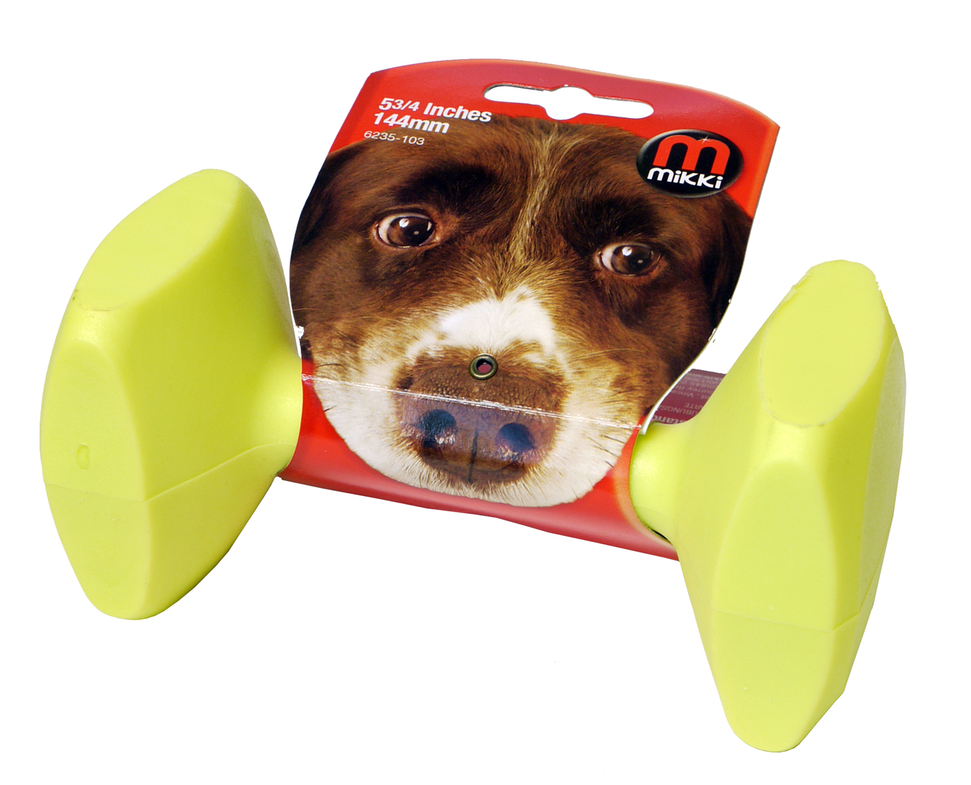 Mikki FetchRite Plastic Dumbbell Dog Toy