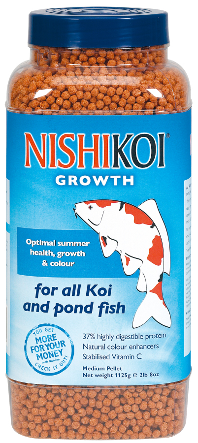 Nishikoi growth pellets pond fish food for Fish food for pond fish