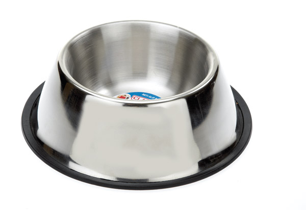 Classic Stainless Steel Non Tip Spaniel Bowl